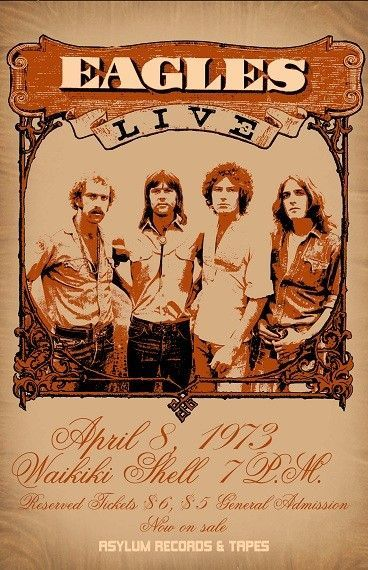 The Eagles Concert Poster Https Www Facebook Com
