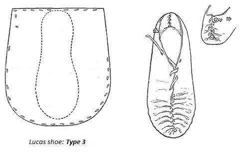 Irish shoe pattern for renactment or just house slippers