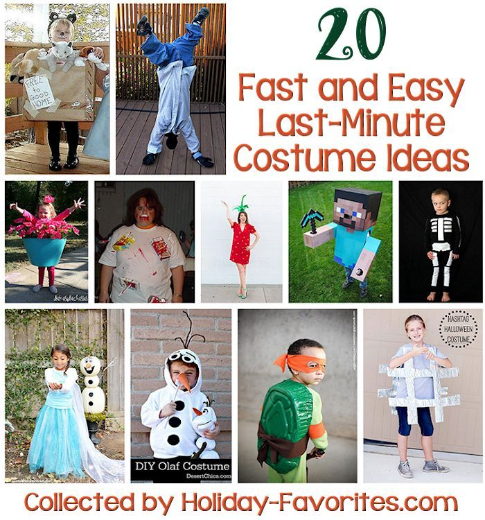 20 Last-Minute Costume Ideas - If you are looking for a fun and - last minute costume ideas halloween