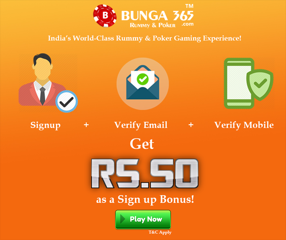 Poker Signup Bonus Rummy Poker Rummy Game