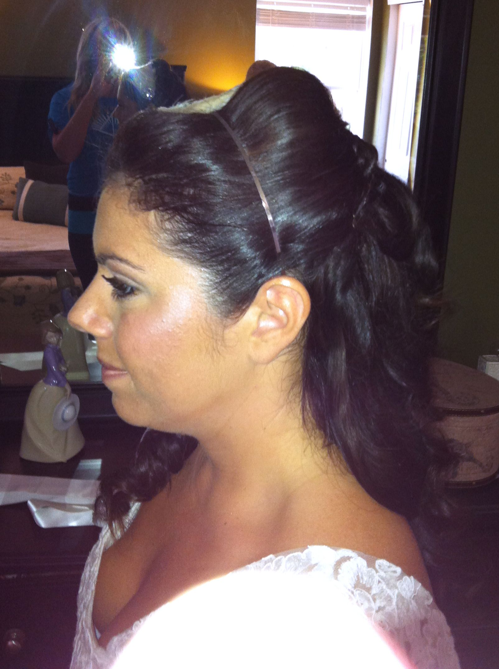 Bridal wedding hair done by master stylist janine argila wedding