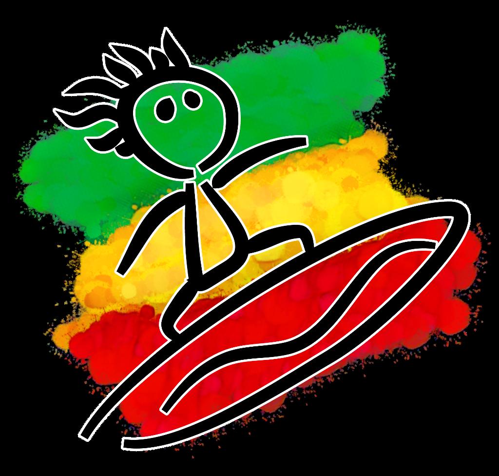 Surf surfer rasta sticker by dubrootsgirl ➡️picsart