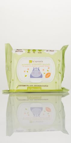 Salviette Detergenti Delicate - In tessuto 100% biodegradabile - La Saponaria  #albicoccole #lasaponaria