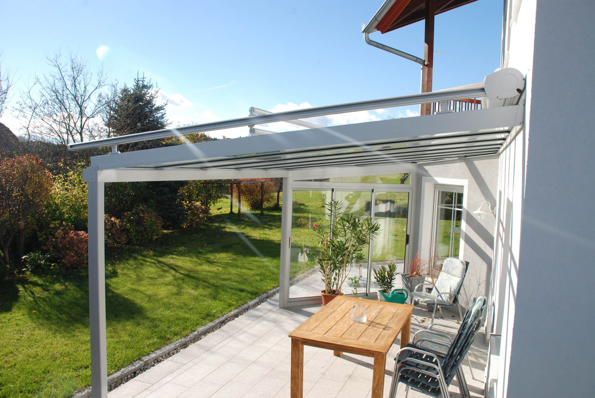 Terrassenuberdachung Alu Glas ~ überdachung terrasse alu glas haloring