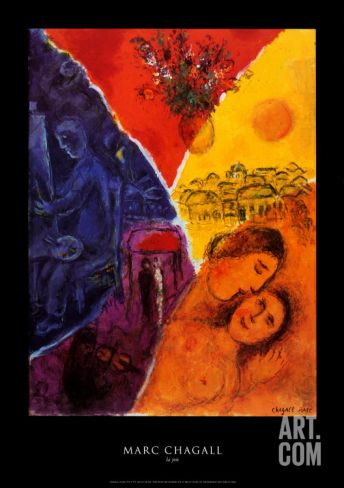 Joie Art Print by Marc Chagall at Art.co.uk