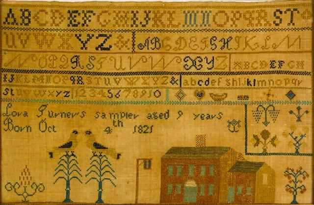 1830 Pa Sampler Lora Turner Allentown Art Museum Allentown Pa Pennsylvania German Antique Samplers Cross Stitch Samplers