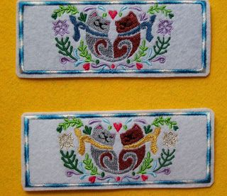 See below for the newest machine embroidered bookmarks.