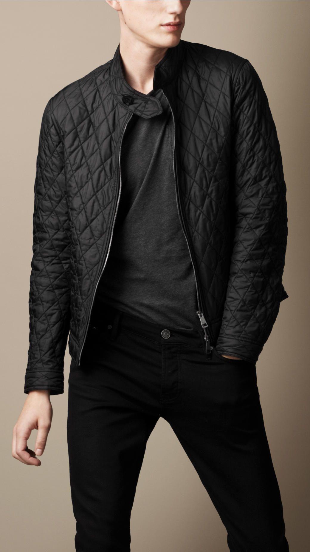 Diamond Quilted Harrington Jacket Burberry Veste