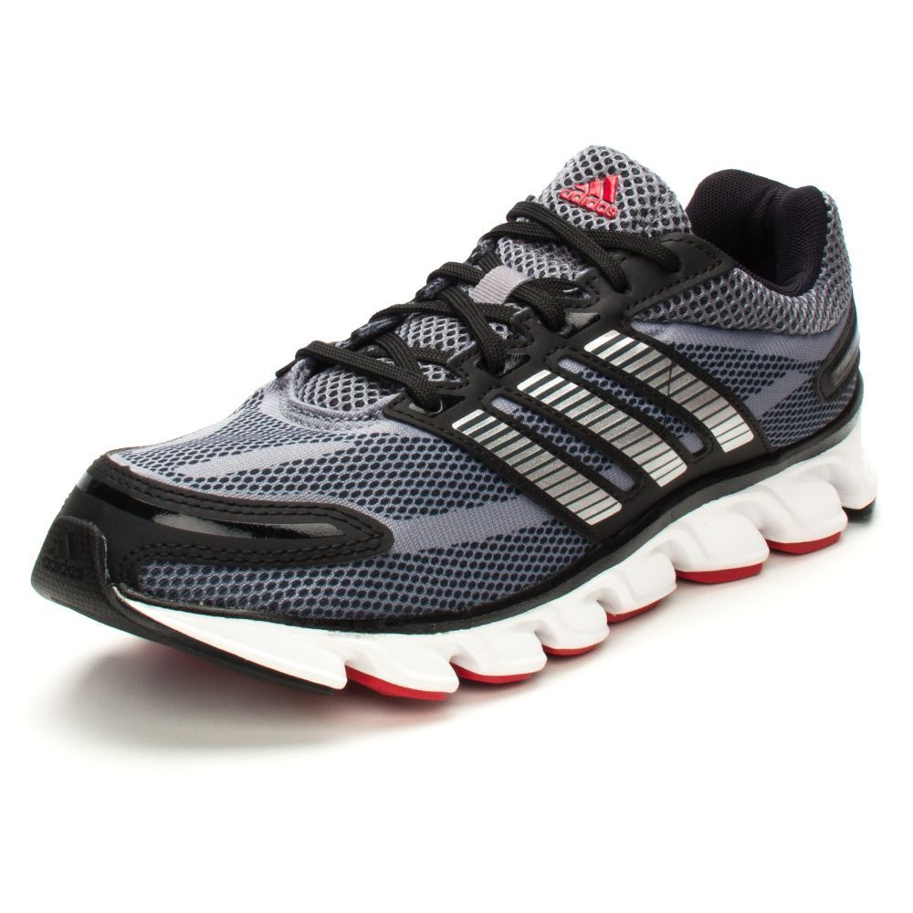 NEW ADIDAS POWEBLAZE Running Black Silver Womens 8 (7Y) Spring NIB #adidas #Running