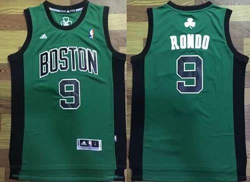 low priced 88f92 84653 Men's Boston Celtics #9 Rajon Rondo Green with Black ...