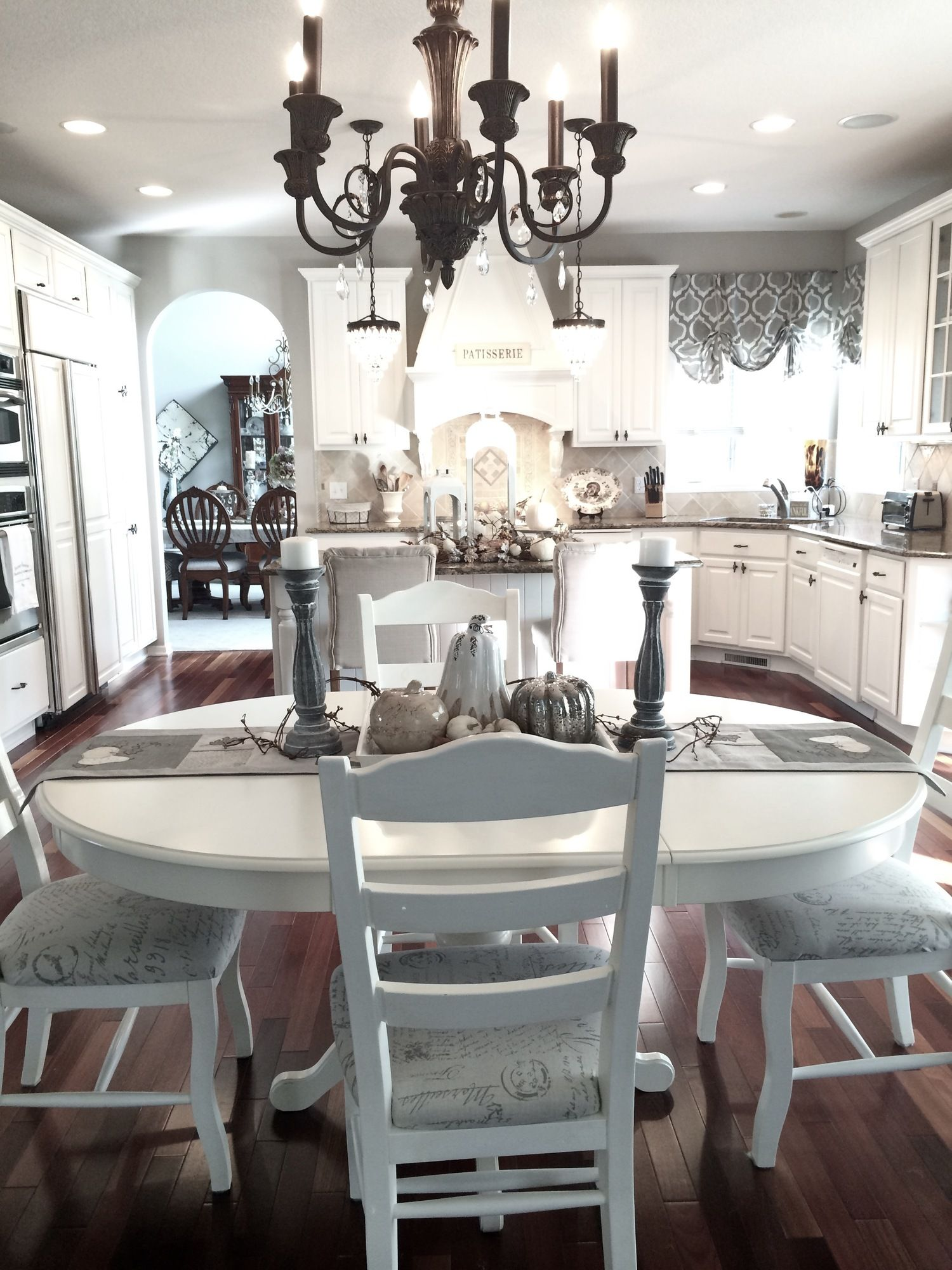Best French Country Goes Upscale In This Kitchen With White 400 x 300