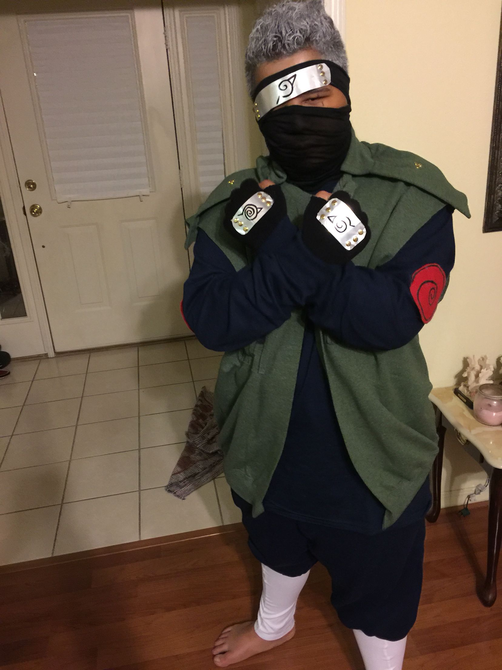 DIY Naruto Costume, Naruto Cosplay : Naruto Gloves, Kakashi Gloves ...