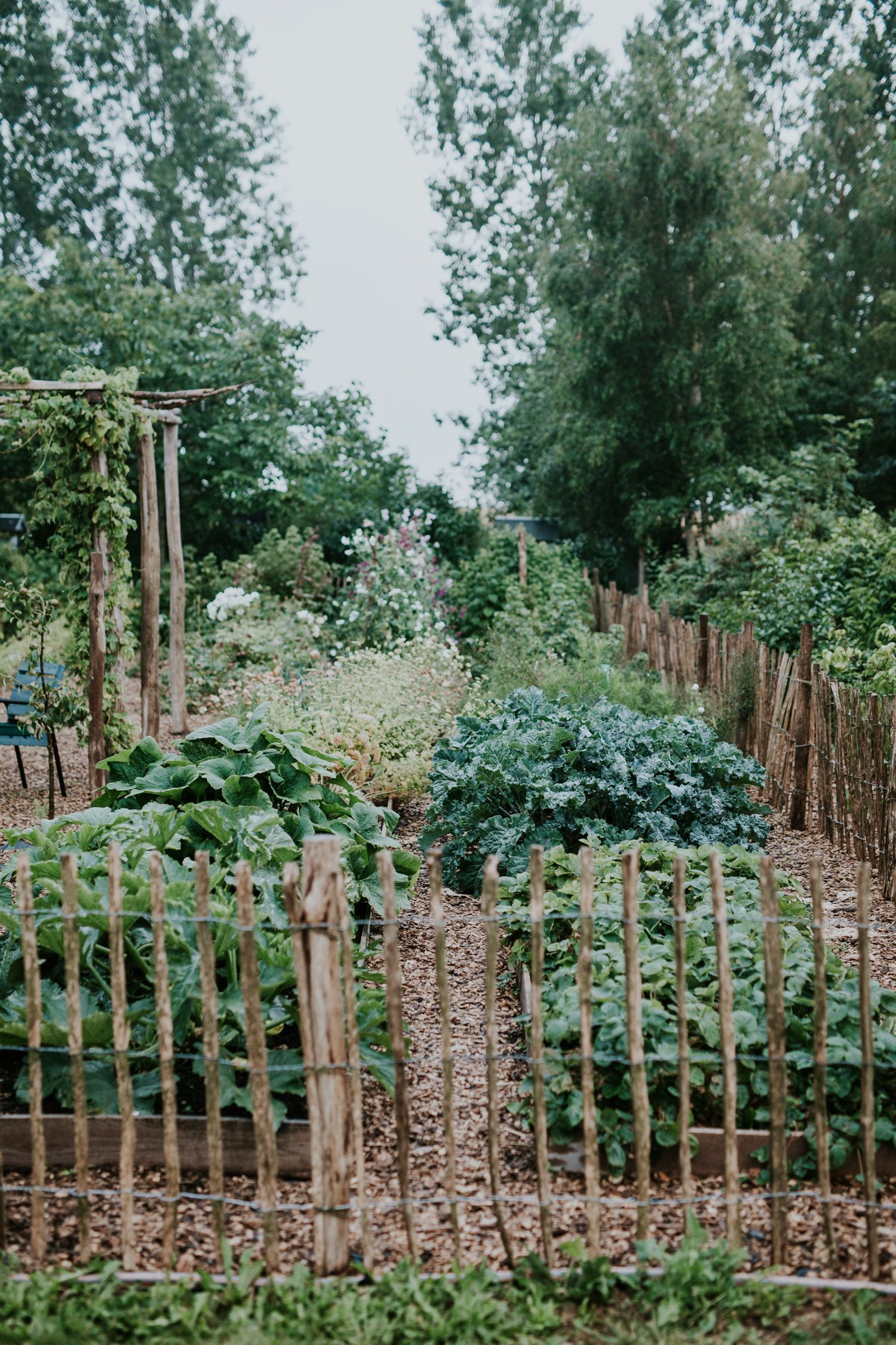 Photo of Rustic veggie garden at Sigridsminde #veggiegardens –  Rustic veggie garden at S…