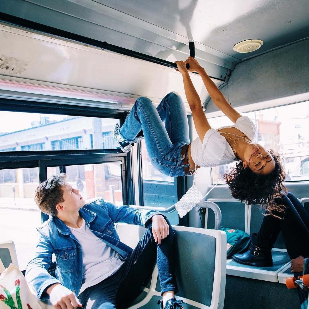 On A Bus Upside Down Thotiana Click The Link In My Bio If You Re As Confused As He Is Liza Koshy Vlog Squad Lizzza Koshy