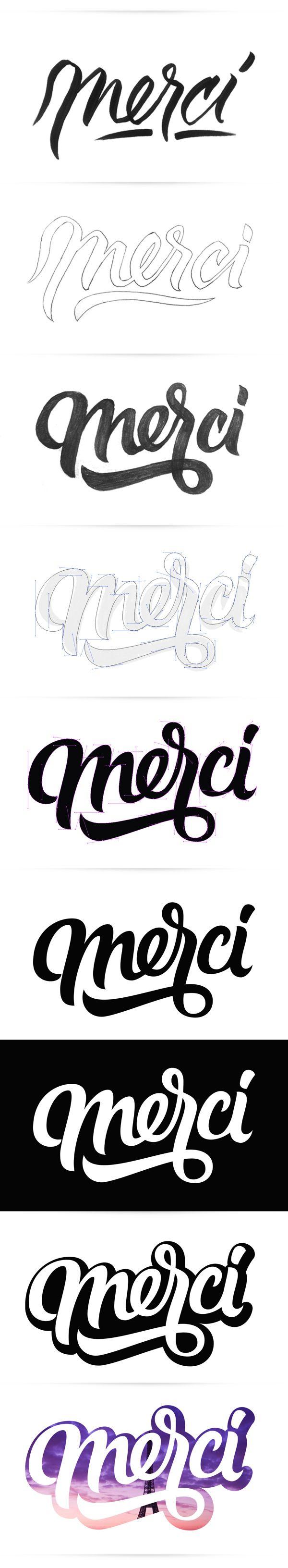 Merci by Oscar Montoya, via Behance #lettering