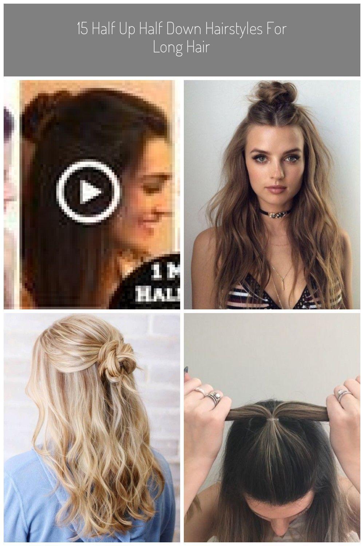 1 Min Everyday Snack Easy Half Up Half Down Bun Hairstyle 1 Min Everyday Snack Easy Ha Bun Hairstyles Down Hairstyles For Long Hair Top Knot Hair Buns