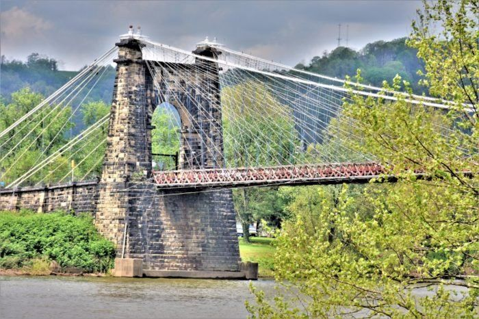 One Of The Nation's Oldest And Longest Suspension Bridges Is Right Here In Wheeling, West Virginia