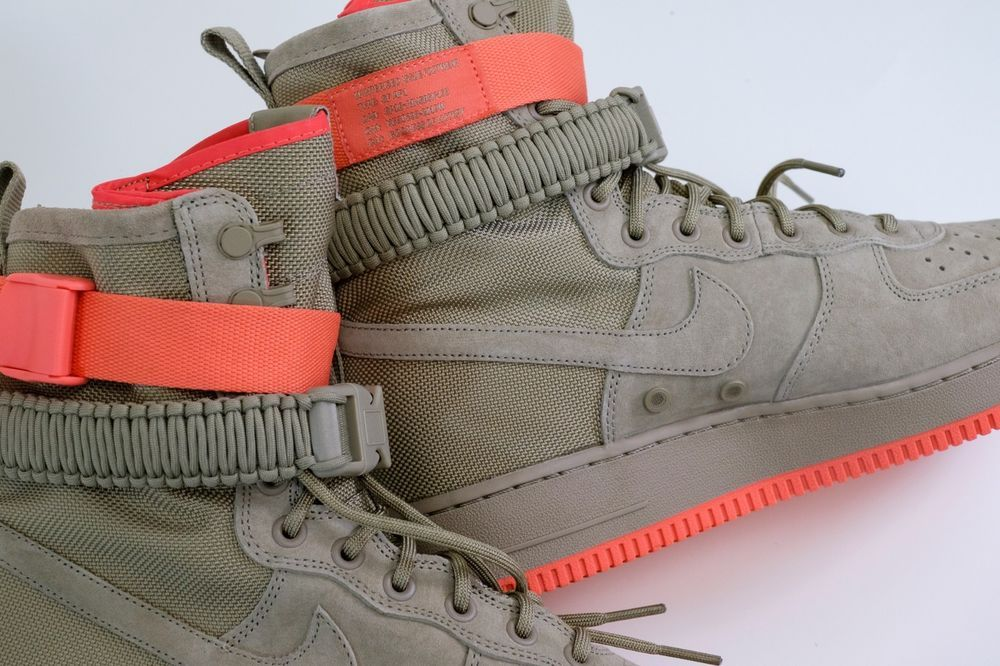 Nike SF Air Force 1 Size 9 US High Boot White Red Ar1955 100 Af1