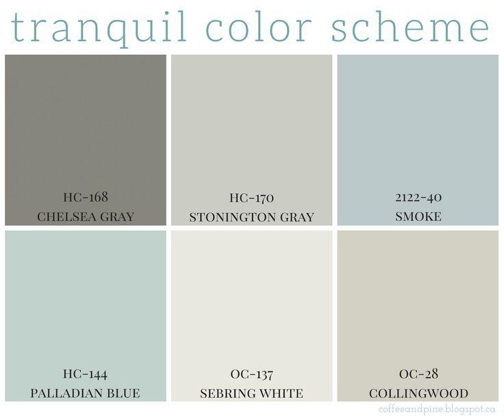 Tranquil Color Scheme House Color Schemes Paint Colors For Home