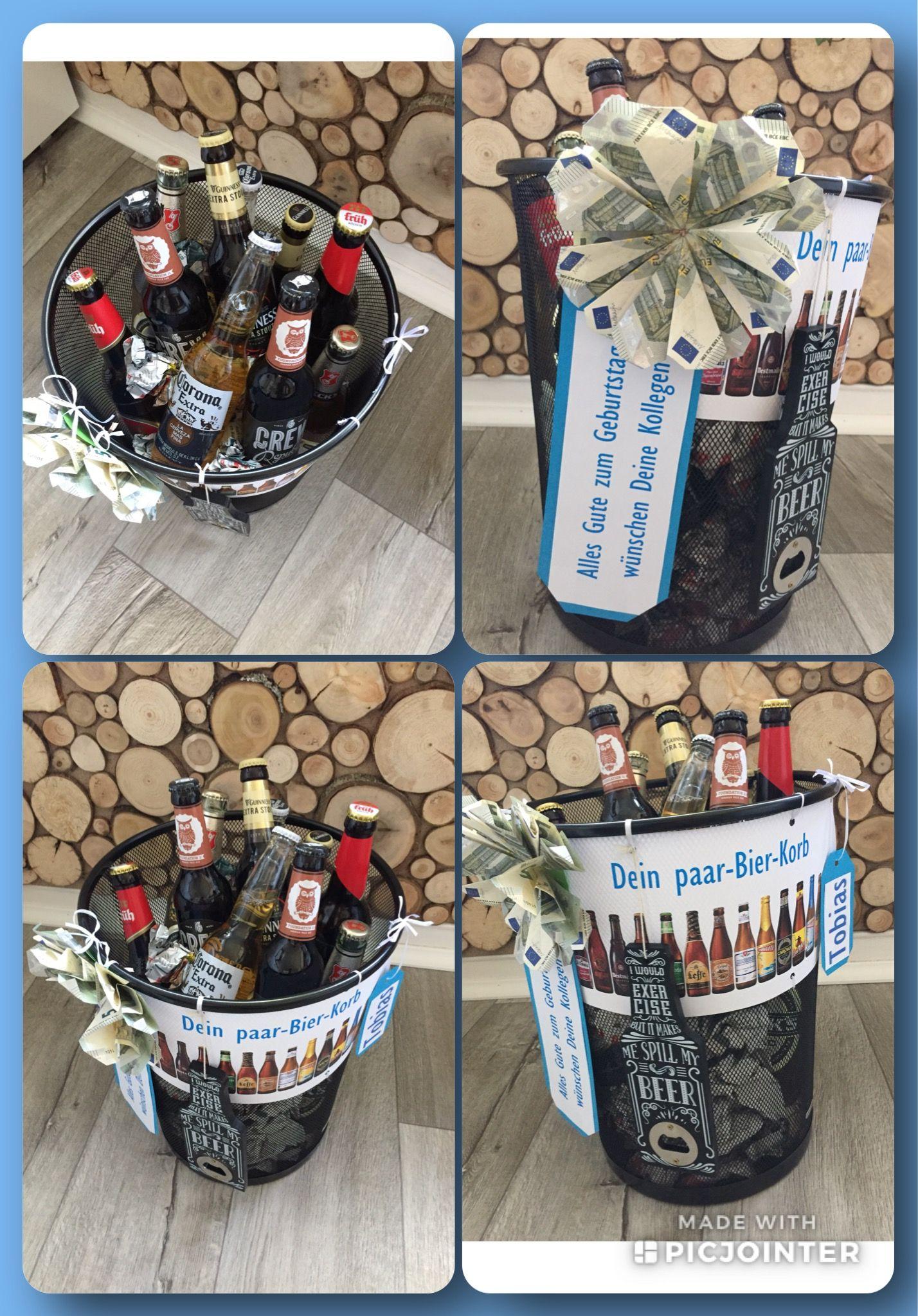 Paarbier Korb Zum Geburtstag Geburtstag Korb Alkohol Geschenke Bierkorb