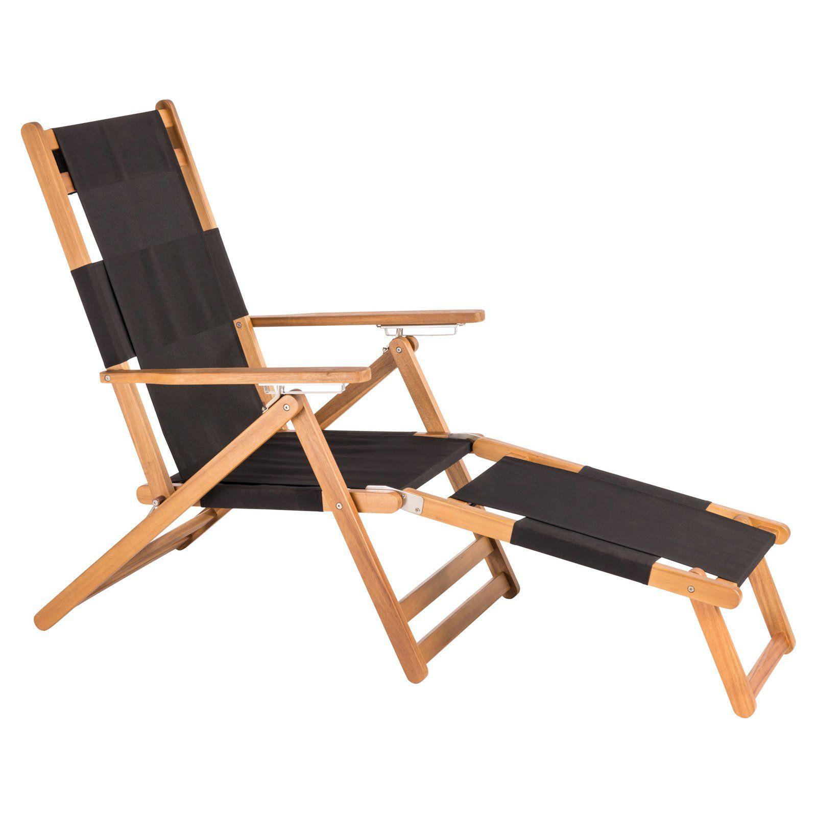 Patio Sense Veradero Beach Chair With Leg Rest Beach Chairs Pool Lounge Patio