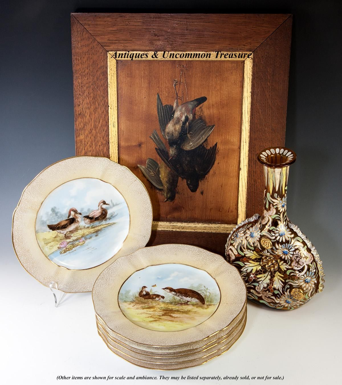 A beautiful set of hand painted fine old Limoges plates, from the famed maker, M. Redon. Ii've long been a fan of this maker and have numerous pieces