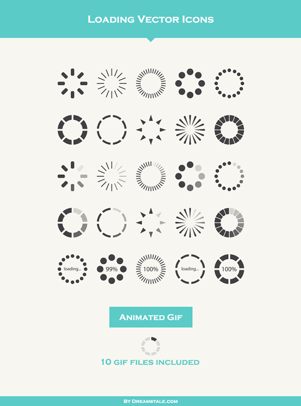 Loading Vector Icons (Freebie) on Behance | GAMEui | Icon design