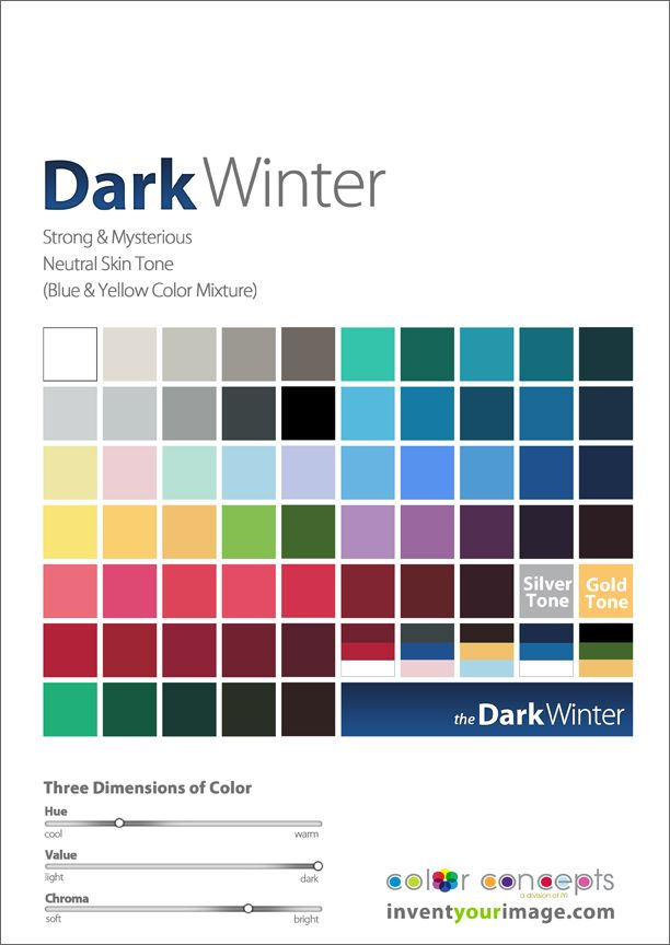 Colors for a Dark Winter Man www.inventyourimage.com