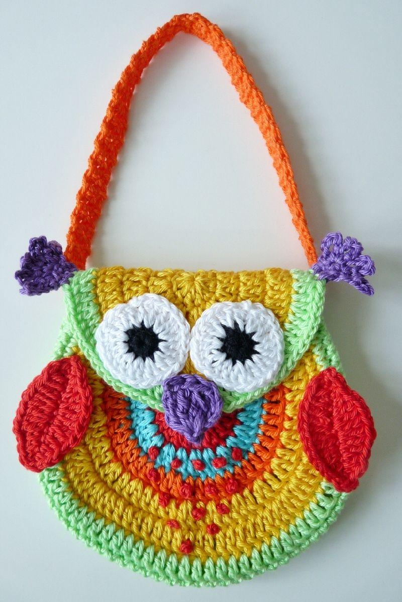Gehaakt Tasje Uil Inspiration Crochet Bagspurses Pinterest
