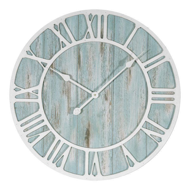 Rosalinde Oversized 23.5 Coastal Decorative Quartz Wall Clock #coastallivingrooms