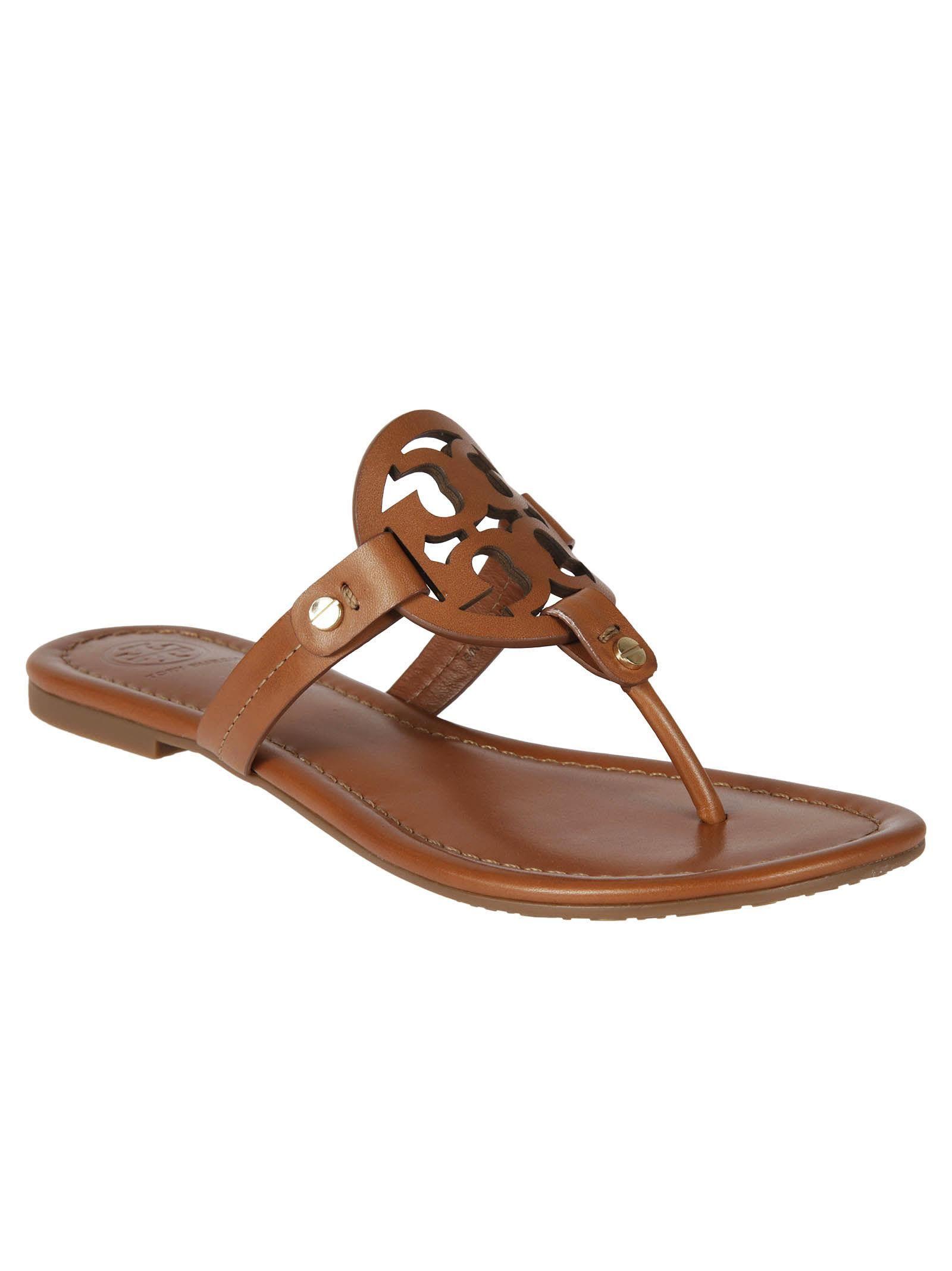 13fd7526a7c622 TORY BURCH MILLER FLAT SANDALS.  toryburch  shoes   Leather Flip Flops