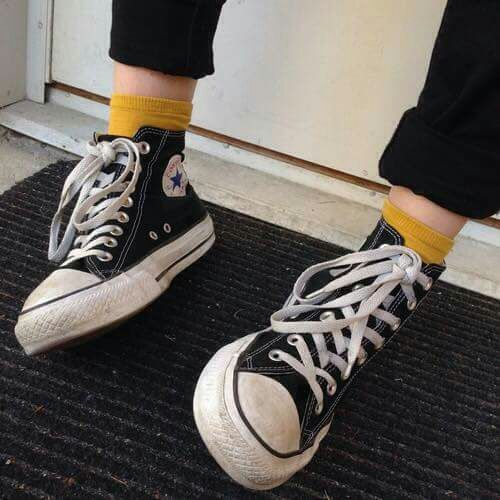 Imagem de grunge, converse, and black   Fashion, Outfits