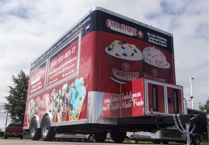 Mobile Ice Cream Shop This Trailer Features A 13 500 Btu Roof Mounted A C Unit A Tongue Mounted 7 0 Kw Generator 1 Ice Cream Shop Trailer Concession Trailer