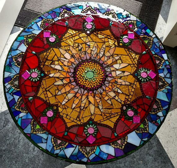 Mosaic stained glass bistro table | mosaic tables | Mosaic ...