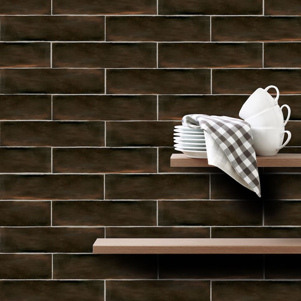 HANDMADE by GIO Wall Tile in Metallic Bronze #commercial #design ...