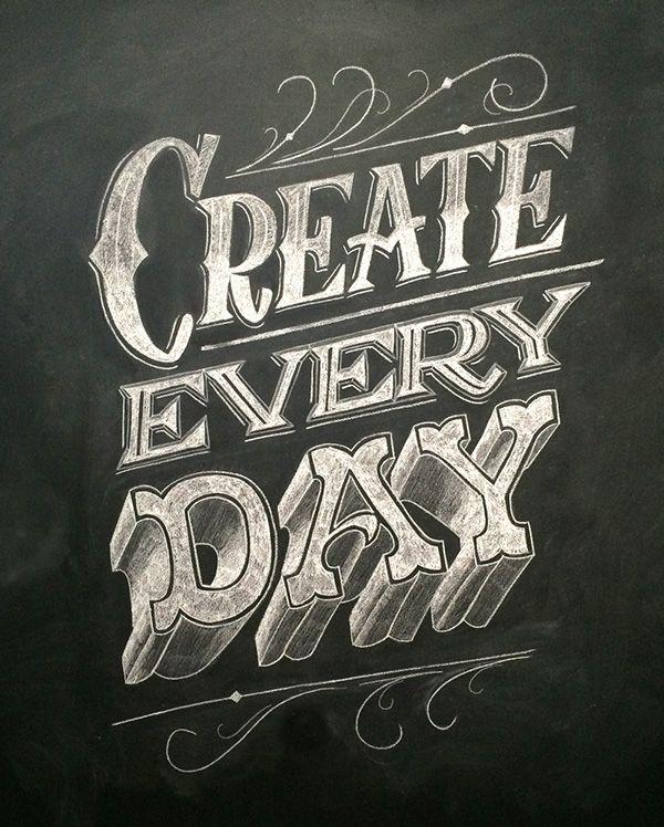 Chalk Lettering Mural on Behance