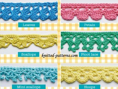 Crochet Edgings And Trims Free Patterns Knitted Patterns