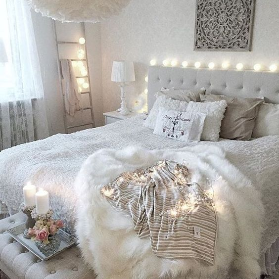 all whites and light greys looks pretty for the bedroomall whites and light greys looks pretty for the bedroom