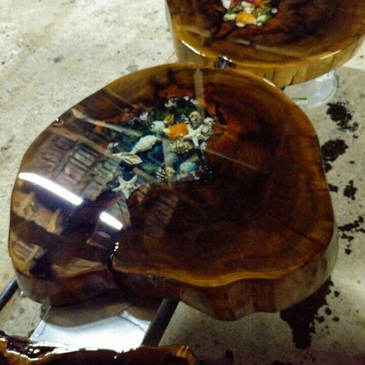 Holz Ideen, Selber Machen, Rustikale Tische, Holztisch, Holzbearbeitung,  Interessante Sachen, Holzwerk, Ballaststoffe, Glas