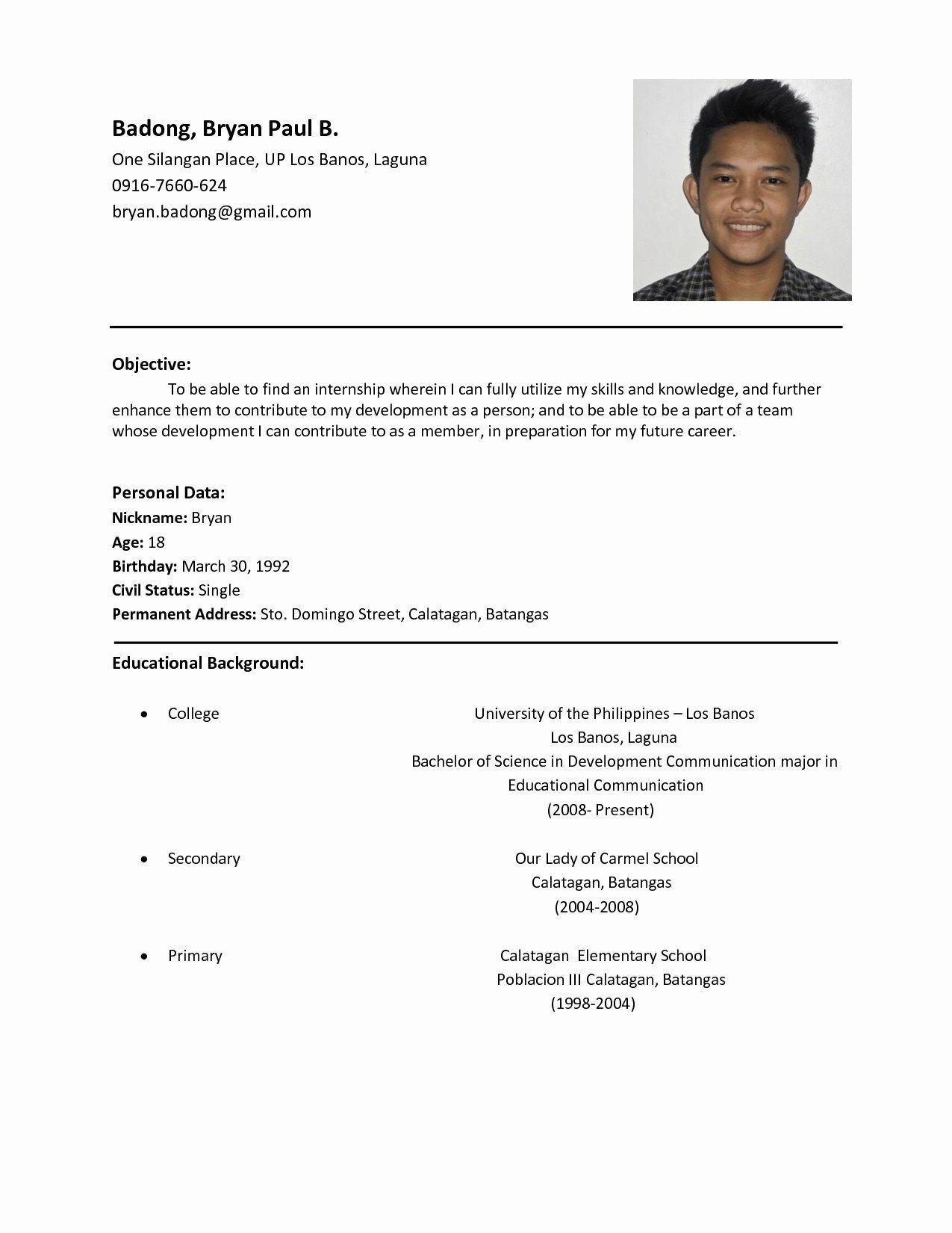 Benefits Of Having Basic Resume Examples Sample Resume Format Basic Resume Examples Basic Resume Format