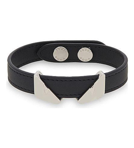 b3d5e2e708af FENDI Monster Eyes Leather Bracelet.  fendi  mens   Fendi Men ...