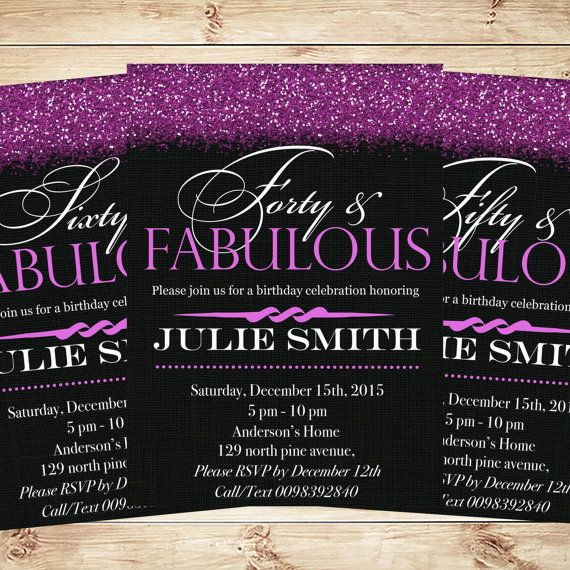 50 And Fabulous Invitations \ Announcements, 50th Birthday - birthday invitation for adults