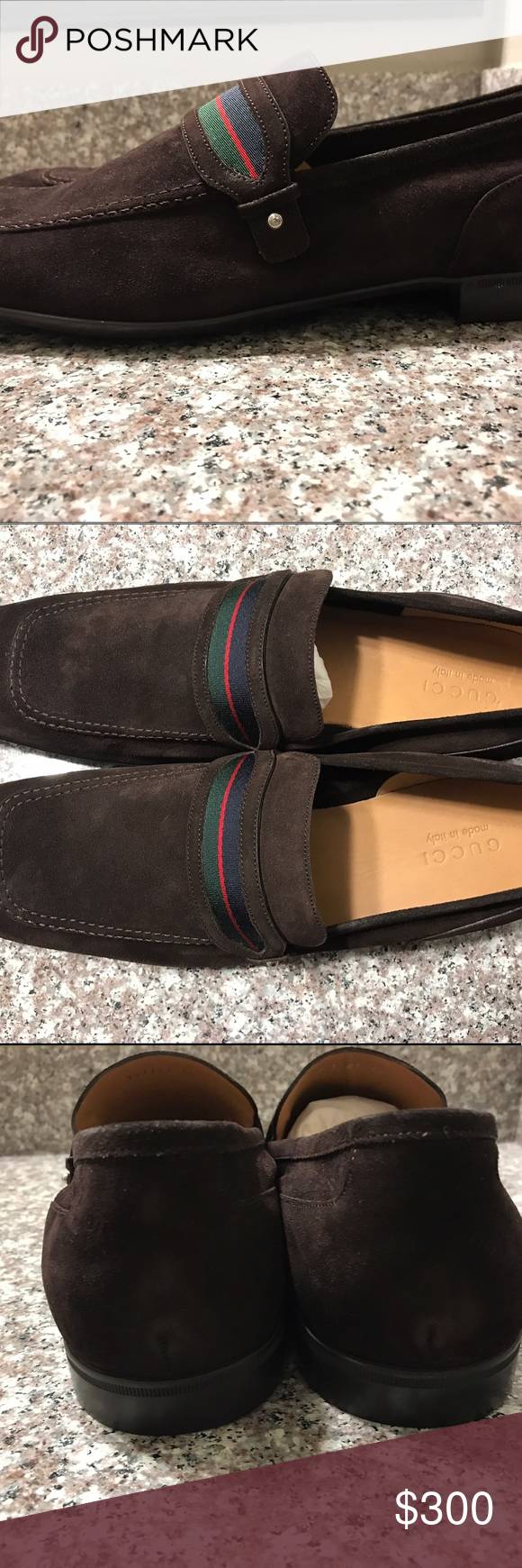 59006b48f Men's Gucci Loafers Chocolate Size 14 Men's Gucci Loafers Size 14 Chocolate  Never Worn Brand New Shipping (2-3 days) Gucci Shoes Loafers & Slip-Ons