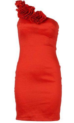 AXParis Rosette Trim Asymmetric Dress
