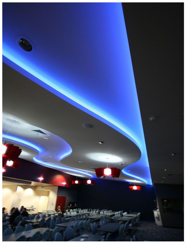 LED strip light example comference room .