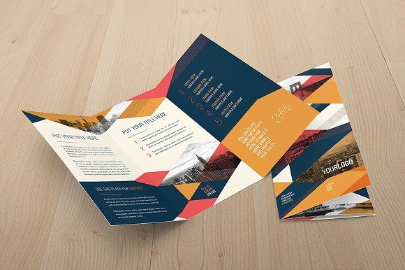 Vintage Trifold Brochure Tri Fold Brochure Brochures And Tri Fold