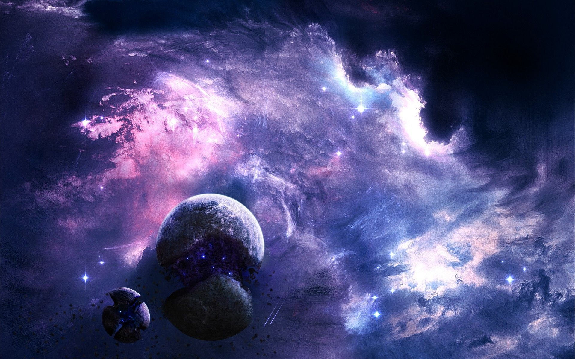 Outer Space Artwork Wallpapers All Kinds Of Creepy Pretty 2048x1152 Wallpapers Space Art Wallpaper Space Artwork