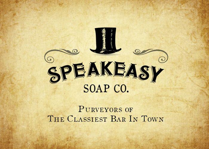 Speakeasy Soap Company Soap Logo Design Logo Design