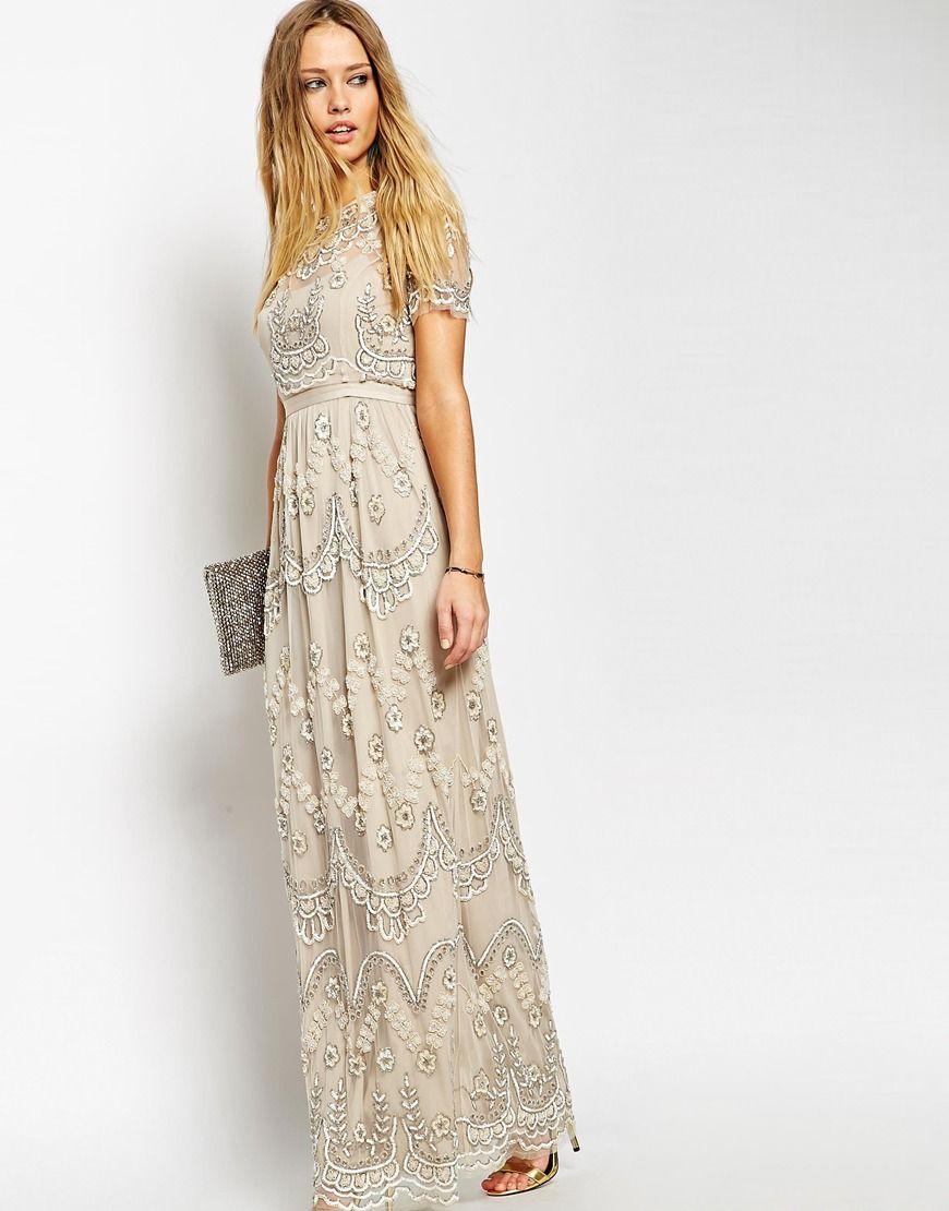 Needle u thread embellished tiered petal maxi dress my style