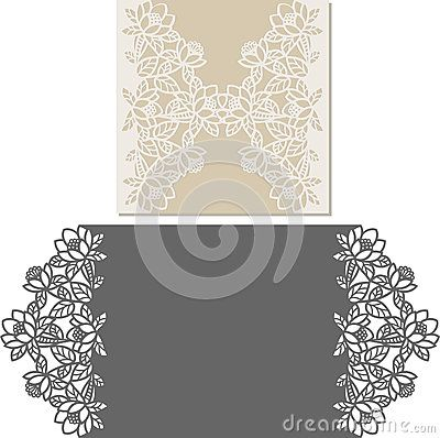 Laser Cut Invitation Card Laser-cut pattern for invitation wedding